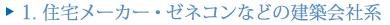 1.住宅メーカー・ゼネコンなどの建築会社系